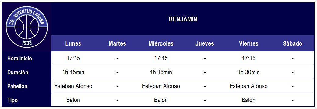 2017-18 CBJL - Horario Benjamín (1)