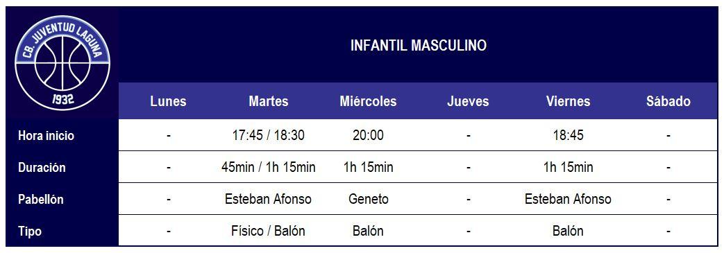 2017-18 CBJL - Horario Infatil Masc